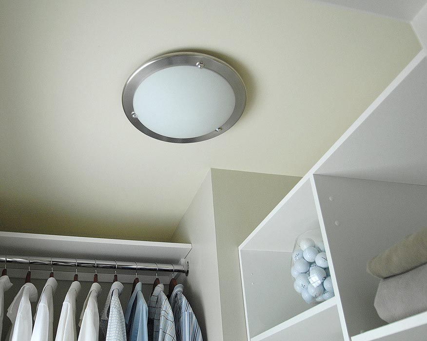 Captivating Add Light Fixture Closet