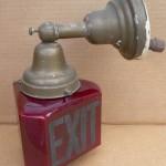 Antique Exit Light Fixture