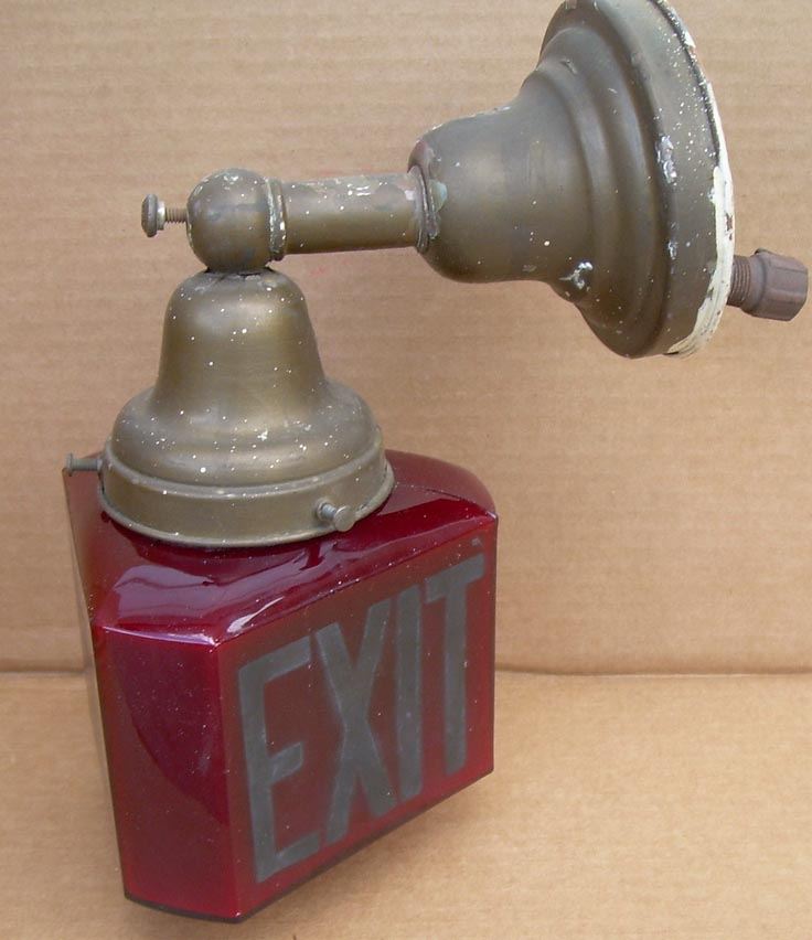 Antique Exit Light Fixture