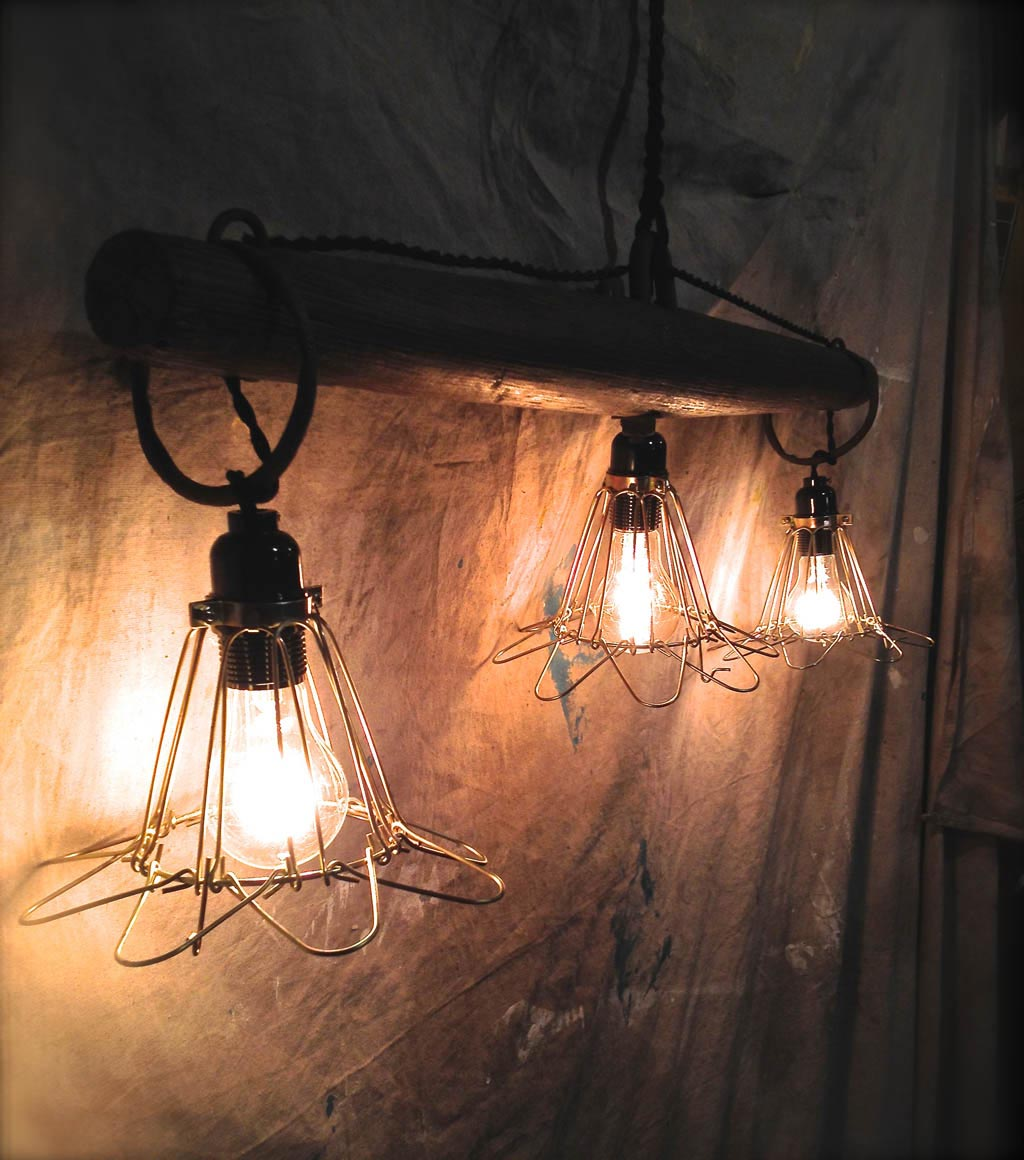 Antique Wooden Light Fixtures