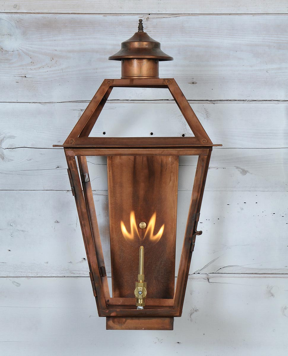 Copper Gas Light Fixtures