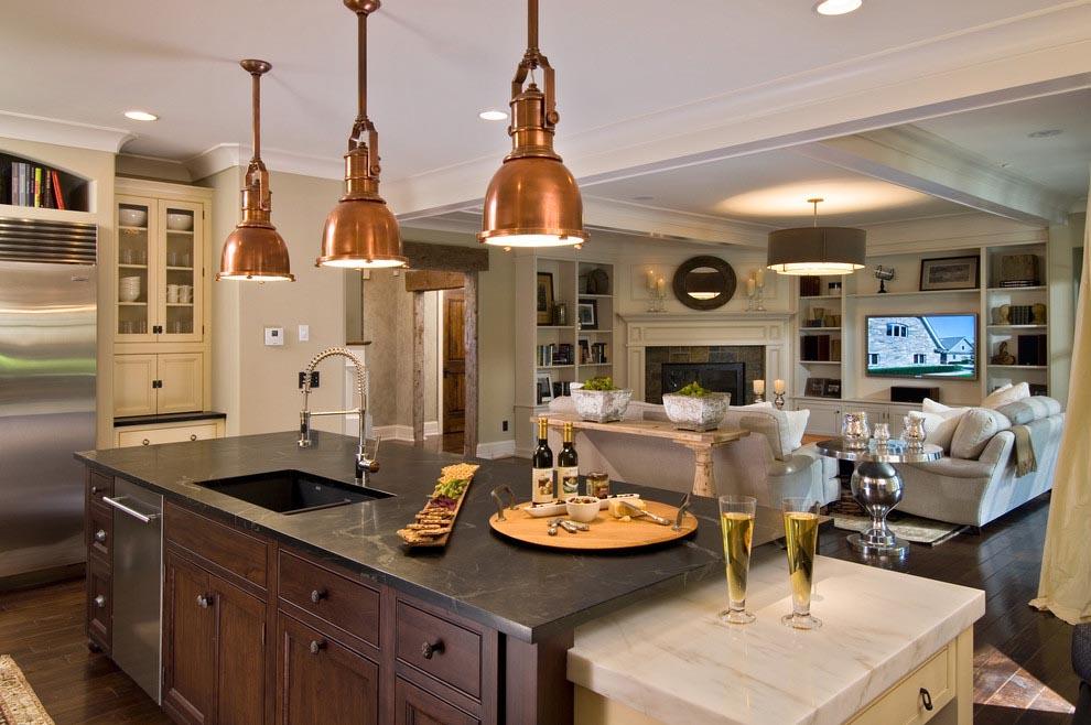 Copper Kitchen Lighting Fixtures