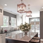 Copper Light Fixture Kitchen