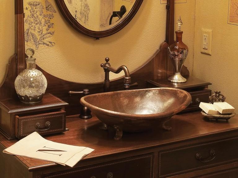 Copper Light Fixtures Bathroom