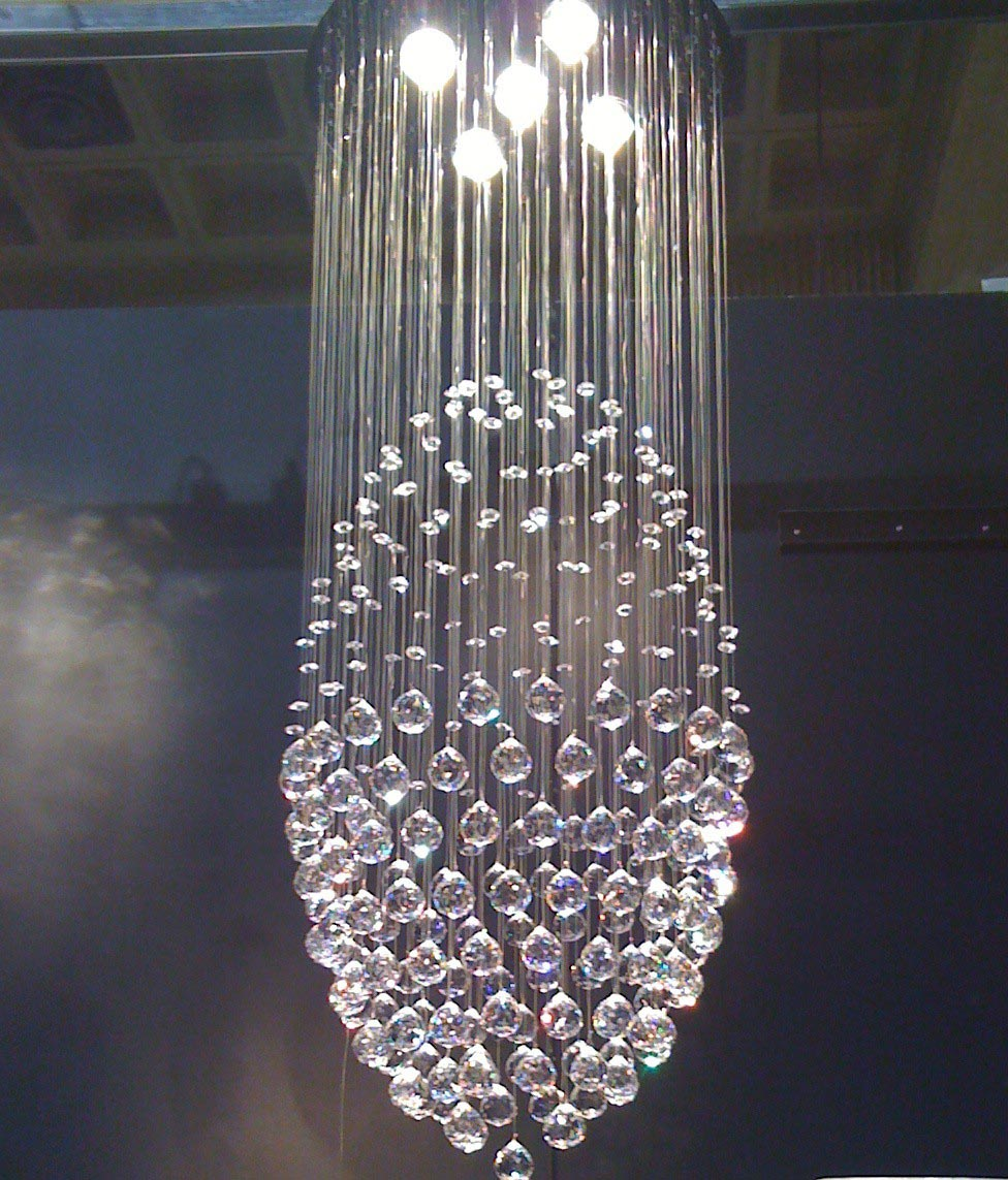 Crystal Foyer Light Fixtures