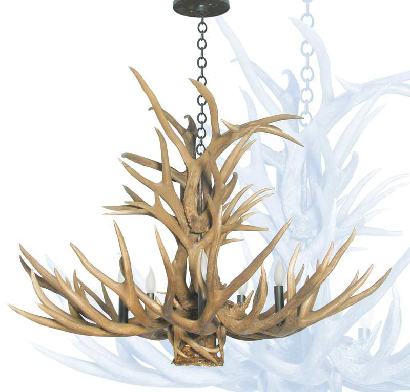 Faux Antler Light Fixtures
