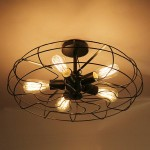 Iron Ceiling Light Fixtures