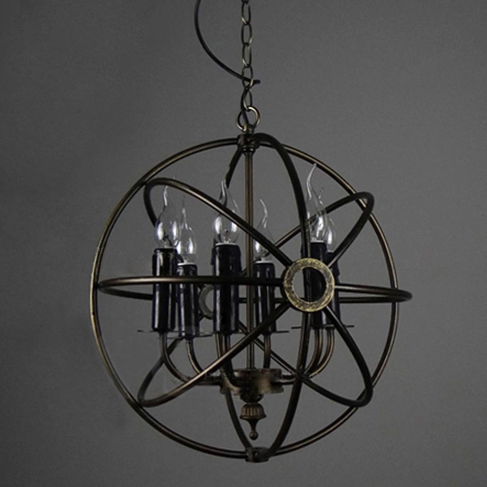 Iron Orb Light Fixture