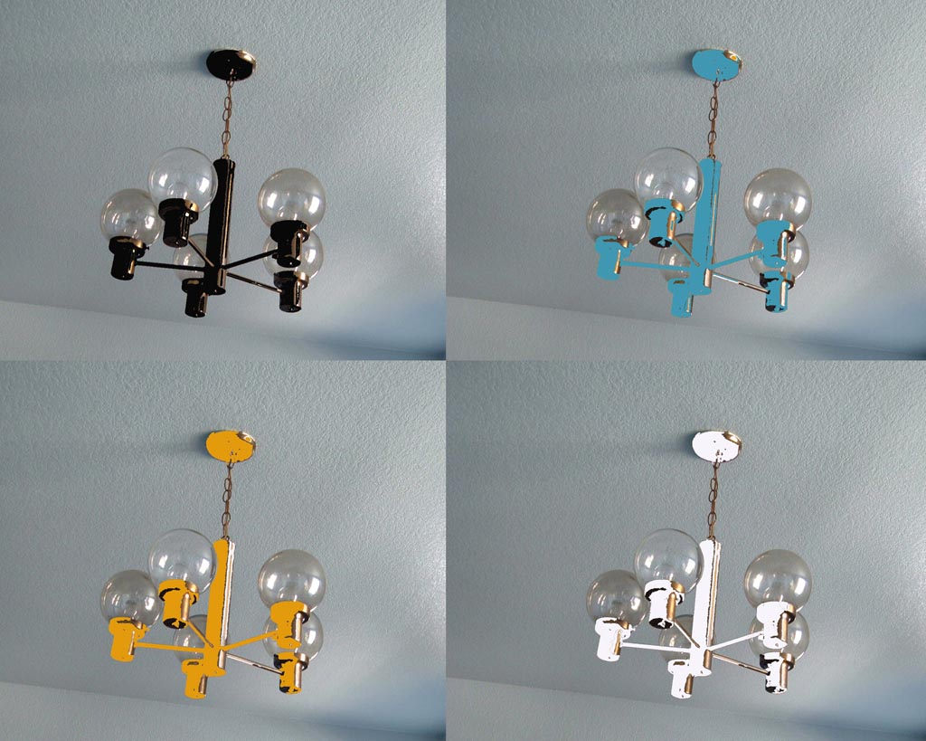 Paint Brass Light Fixture