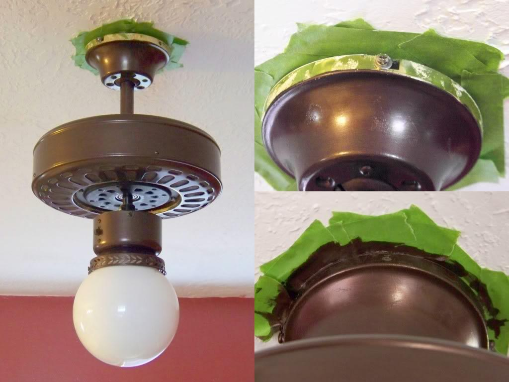 Painting Ceiling Light Fixtures