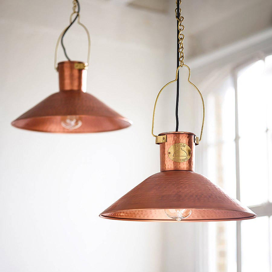Raw Copper Light Fixtures
