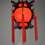 Red Lantern Light Fixture