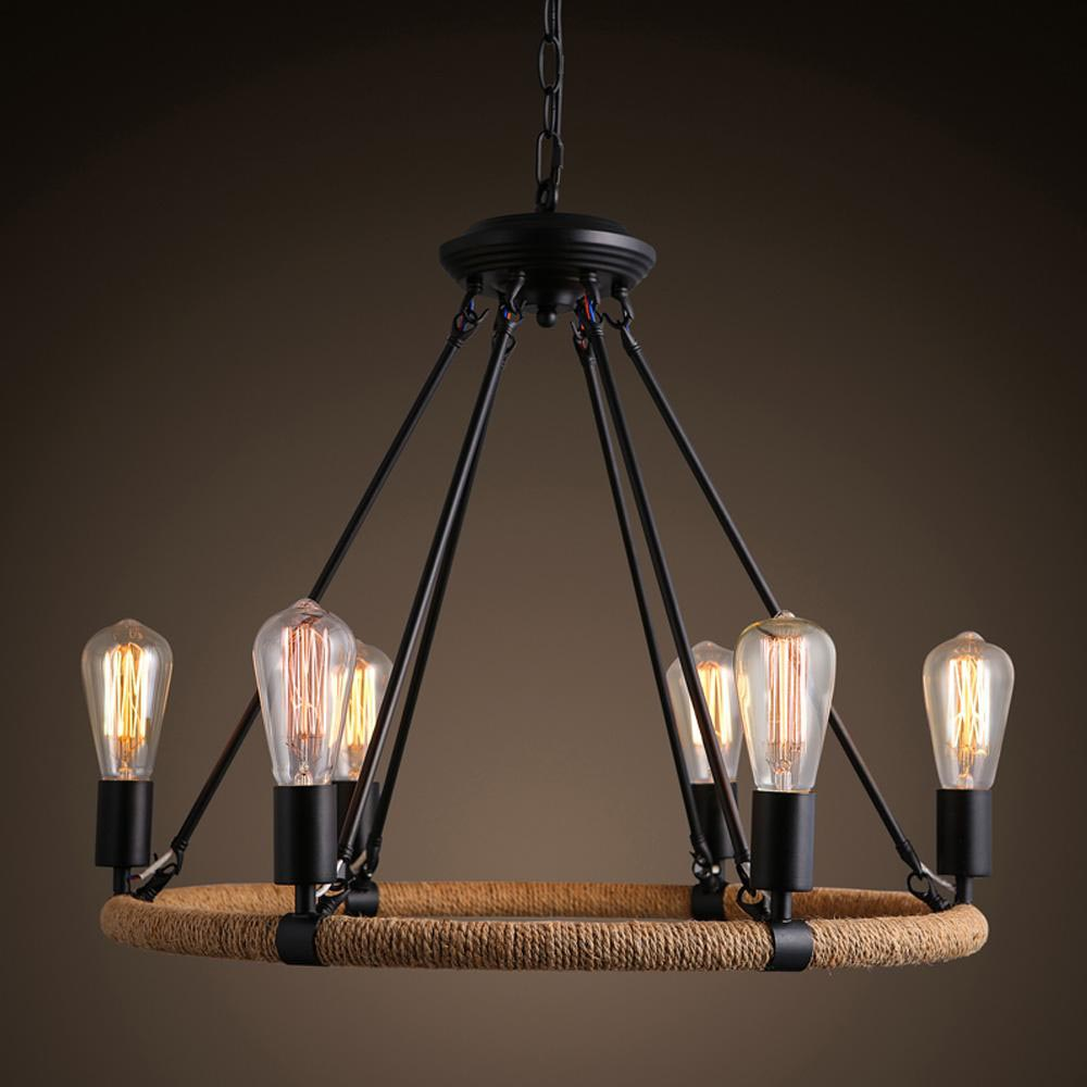 Retro industrial lighting fixtures painted iron pendant for Industrial design lighting fixtures