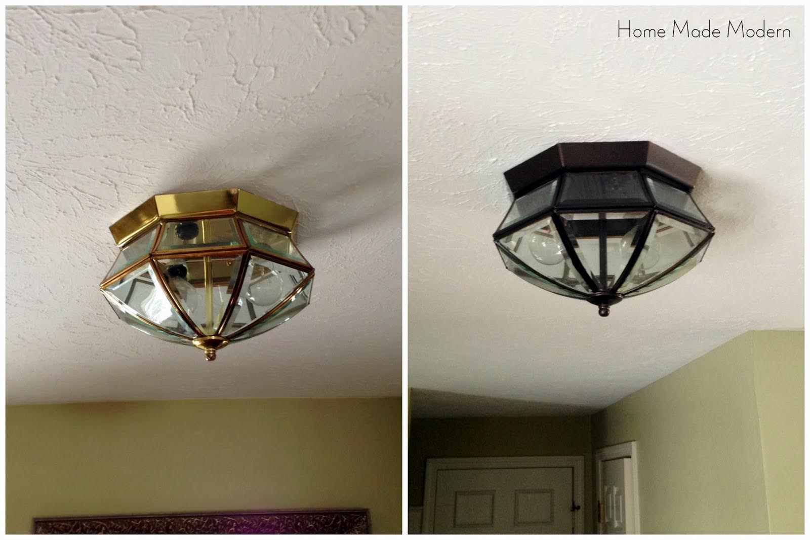 Spray Painted Light Fixtures