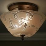 Vintage Cowboy Light Fixture