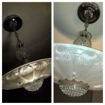 Vintage Glass Light Fixtures