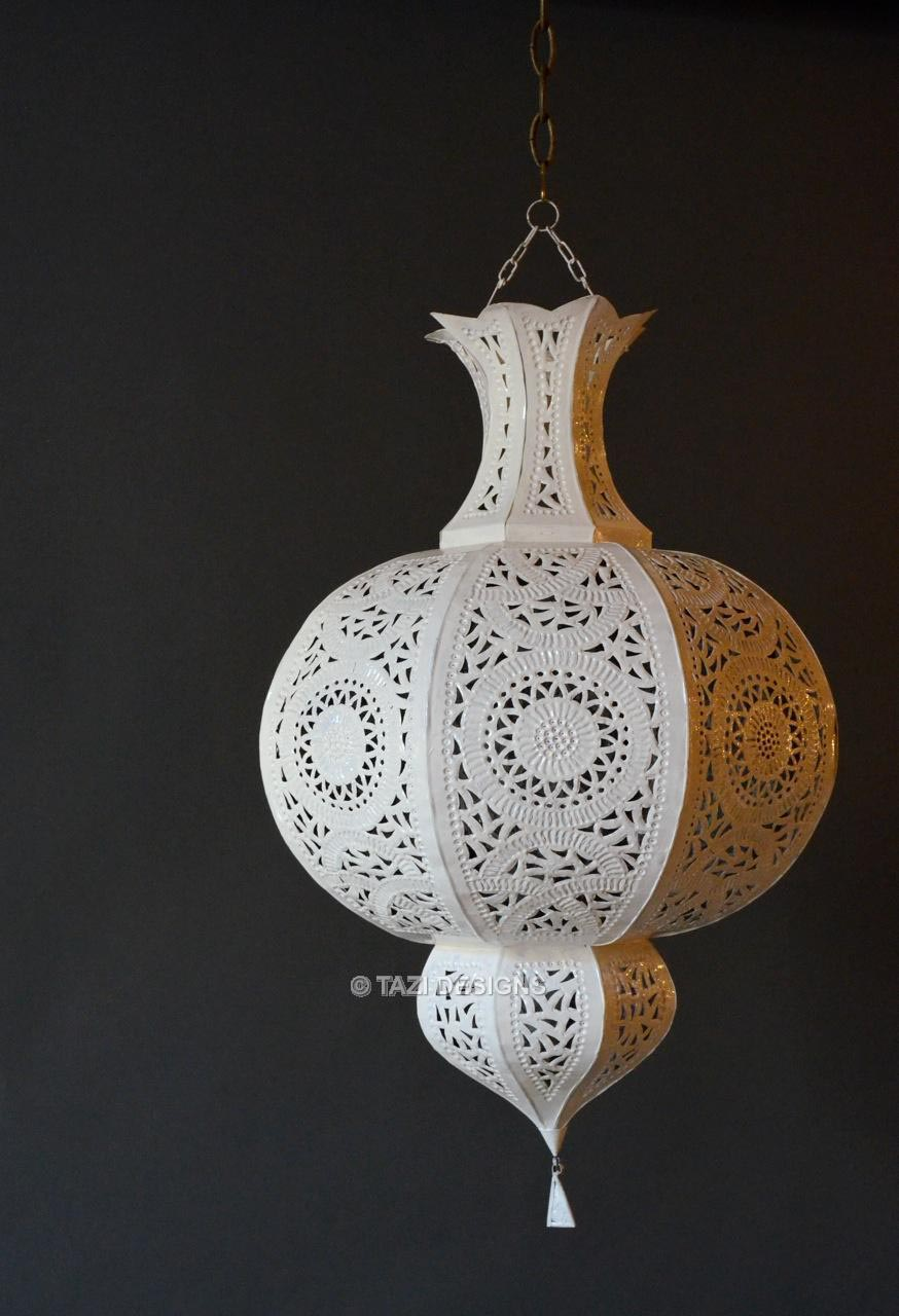 White Lantern Light Fixture