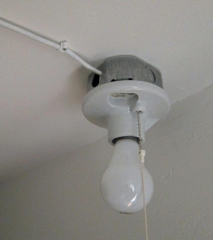 Wiring Closet Light Fixture