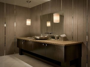Wooden Bathroom Lighting Fixtures