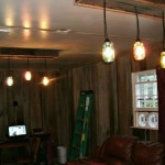 Wooden Ladder Light Fixture