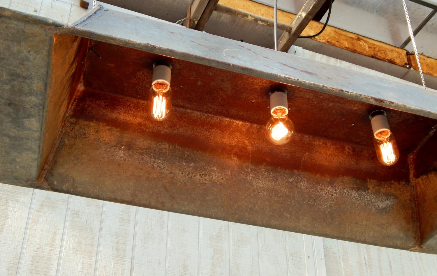 Wooden Trough Light Fixture