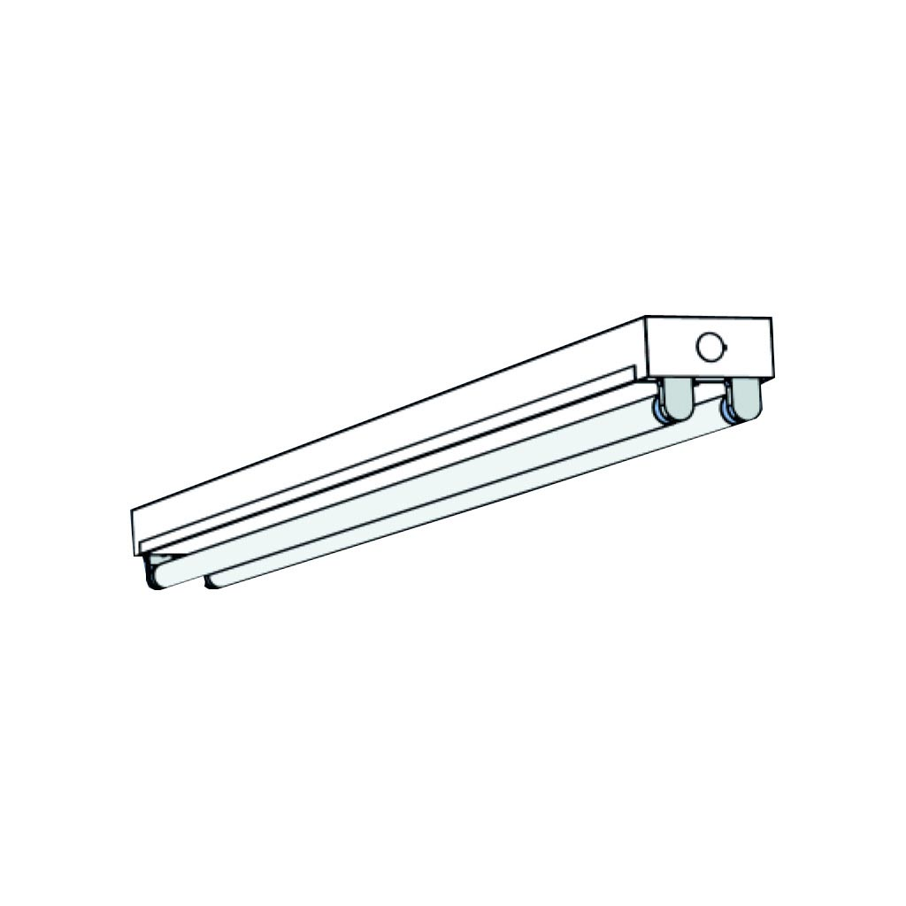 8 Fluorescent Light Fixture T8