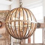 Amelia Wood Bead Chandelier