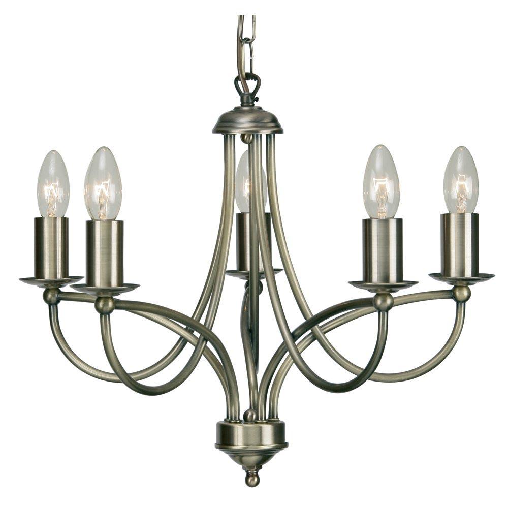Antique Brass 5 Light Chandelier Light Fixtures Design Ideas