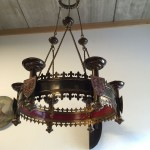 Antique Brass Candle Chandelier