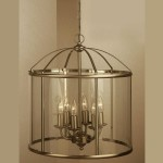 Antique Brass Lantern Chandelier