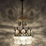 Antique Brass Mini Chandelier