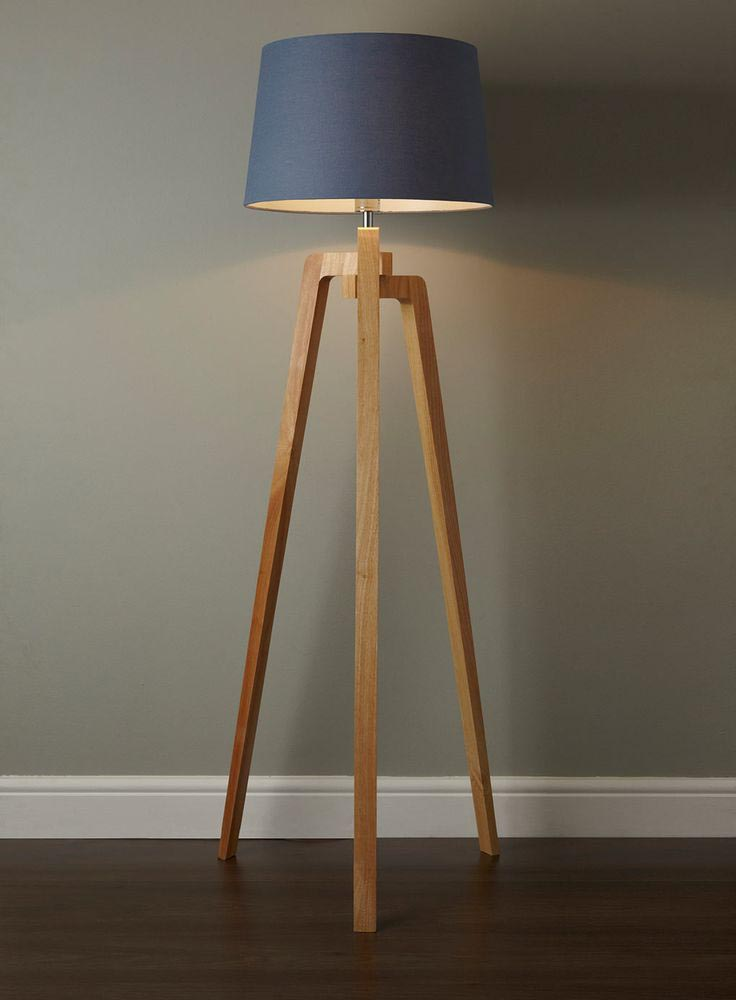 Antique Wooden Floor Lamp