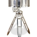 Bayswater Silver Tripod Nautical Search Light Floor Lamp