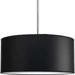 Black Drum Light Fixture