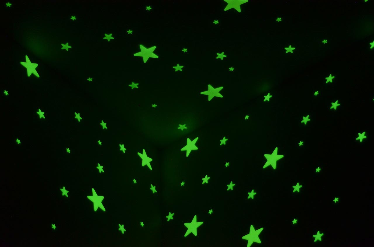 Black Light Ceiling Stars