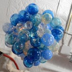 Blown Glass Bubble Chandelier
