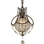 Bronze Crystal Mini Chandelier