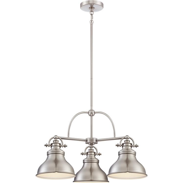Brushed Nickel Mini Crystal Chandelier
