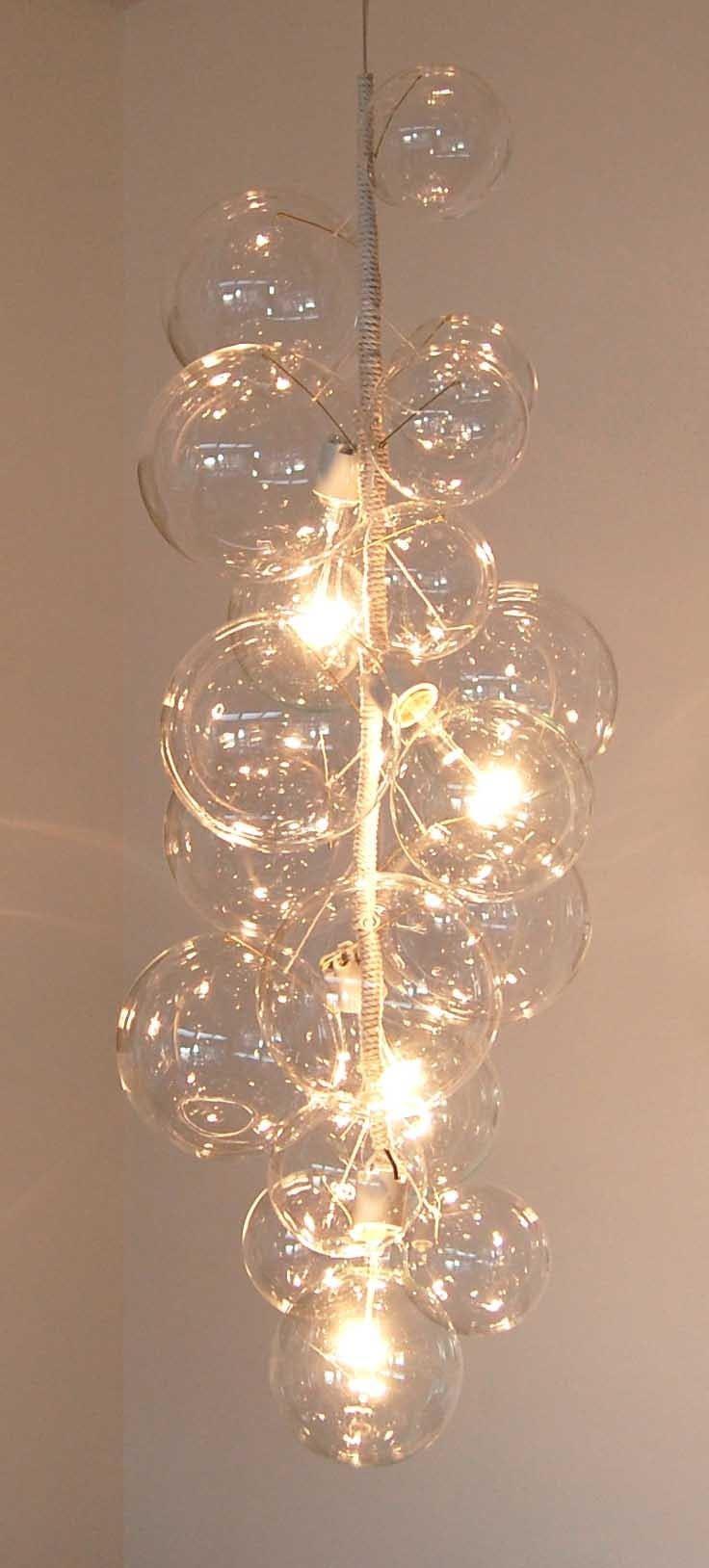 Bubble Glass Chandelier By Solaria Light Fixtures Design