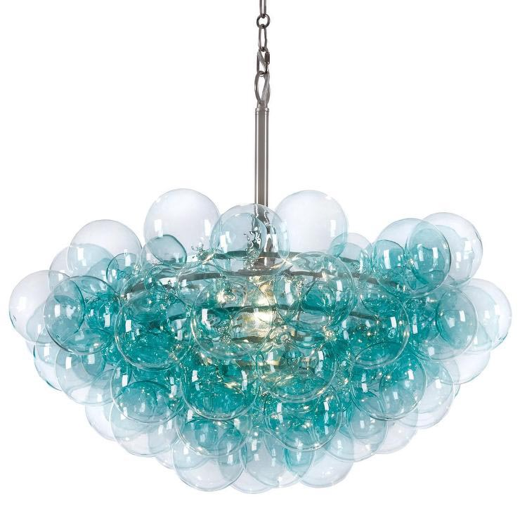 Bubbles Glass Chandelier Solaria