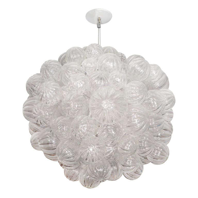 Bubbles Glass Modern Chandelier Solaria