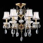 Chandelier Antique Brass Finish