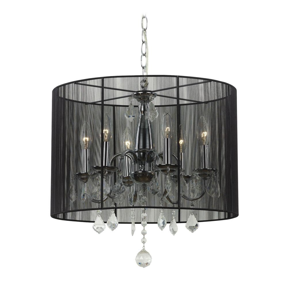 Chandelier with Drum Shade