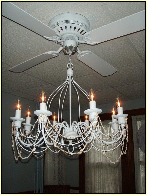 Crystal Chandelier Ceiling Fan Combo