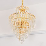 DIY Crystal Ball Chandelier