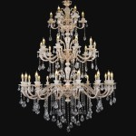 DIY Crystal Bead Chandelier