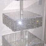 DIY Crystal Chandelier Cake Stand
