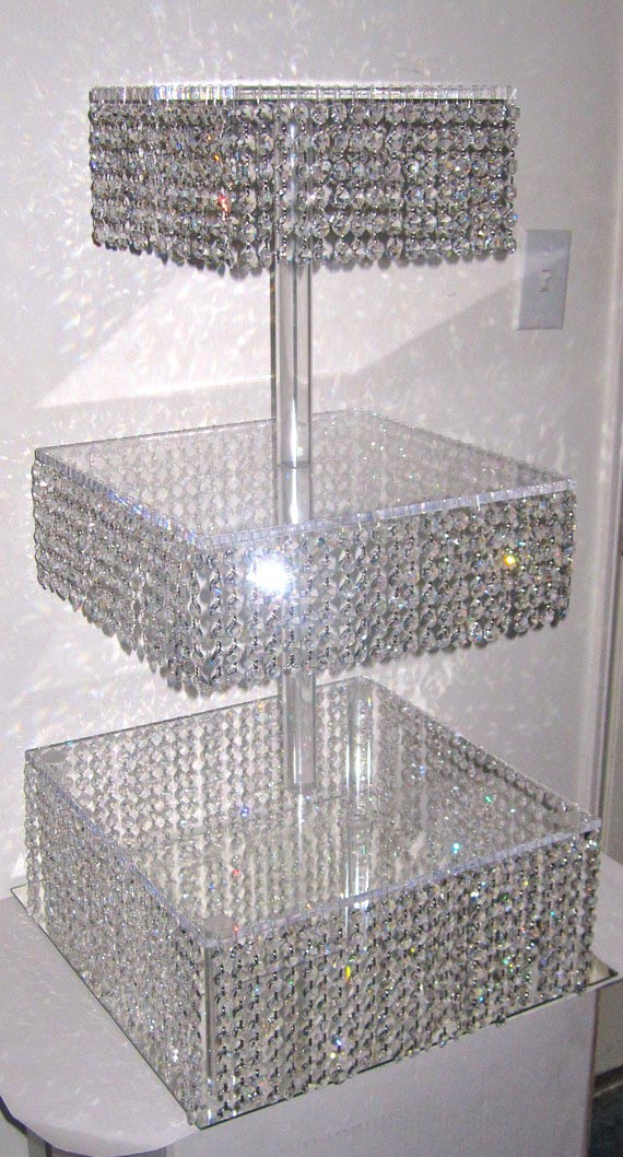 diy crystal chandelier cake stand light fixtures design