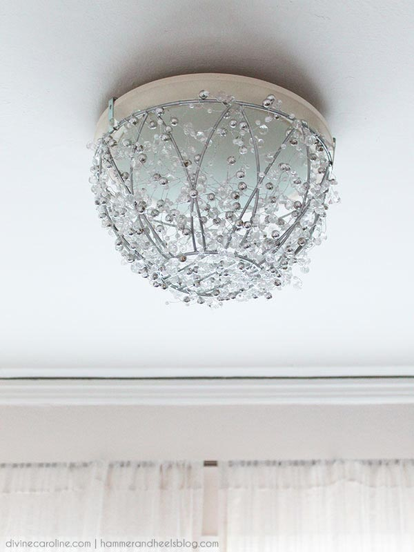 DIY Crystal Chandelier Lighting