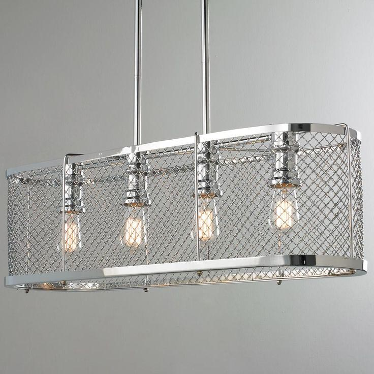 DIY Linear Strand Crystal Chandelier